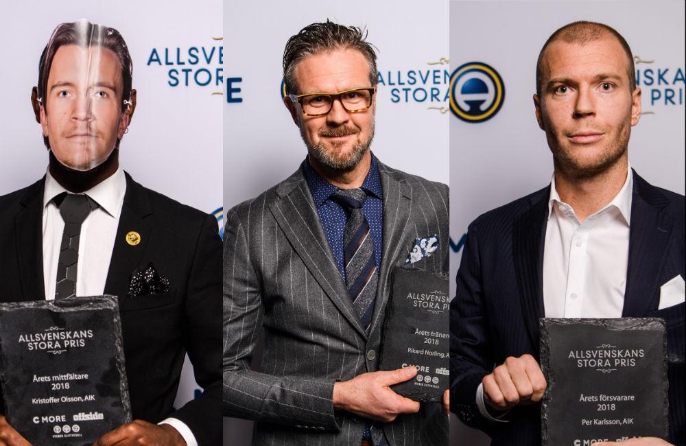 Storslam för AIK – trippla vinnare på Allsvenskans stora pris-galan