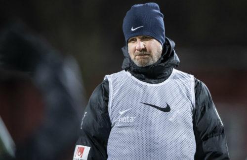 Rikard Norling leder en AIK-träning
