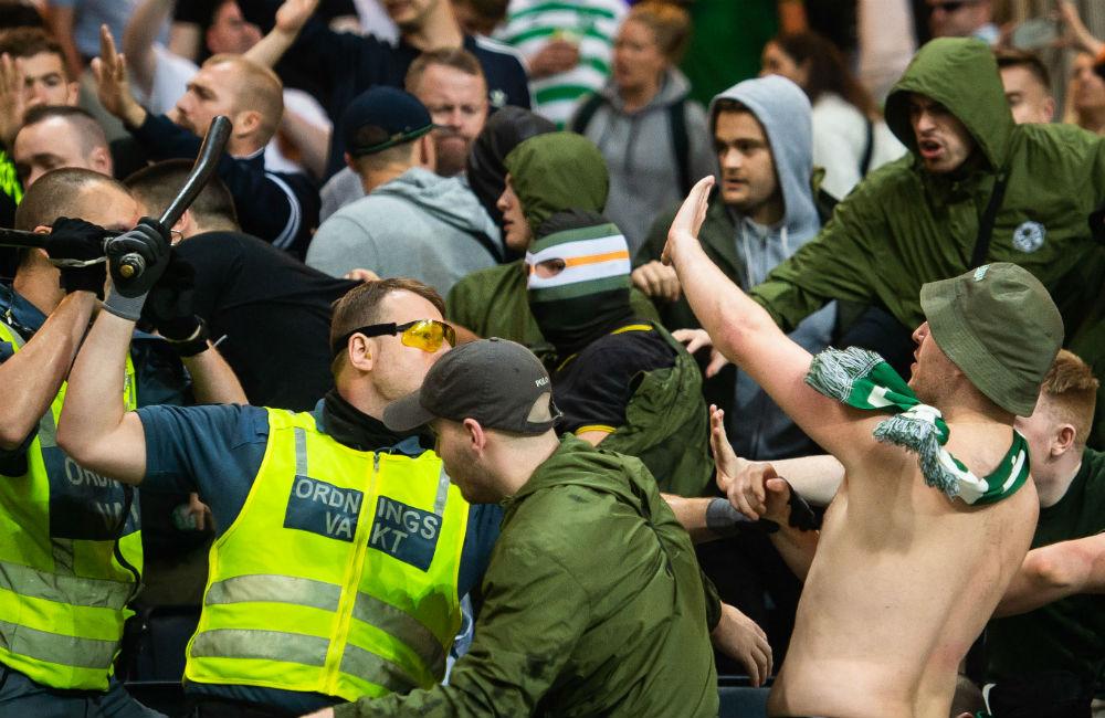 Celtics anklagelse: Hammarby-supportrar i bråket