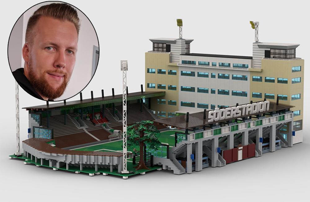 """Byggt upp Söderstadion i Lego: """"Vill skänka den till Hammarby"""""""