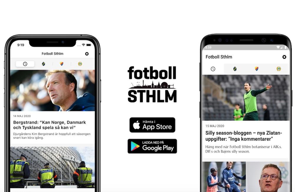 Glada nyheter för läsarna – Fotboll Sthlms lanserar app