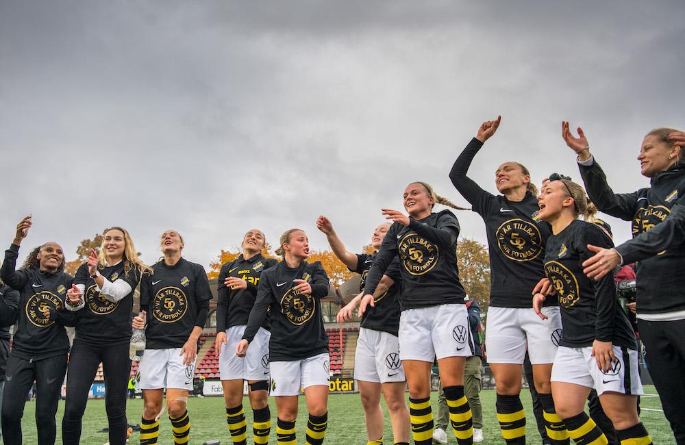 AIK:s stora glädje – tillbaka i Damallsvenskan efter fem år