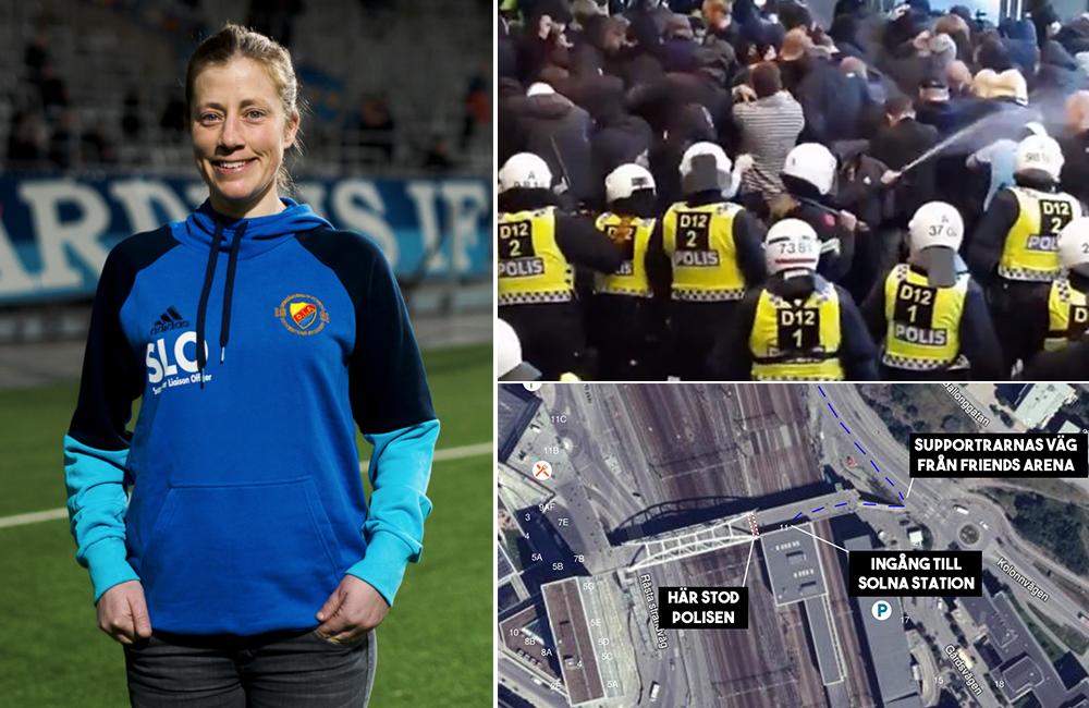 Djurgårdens SLO följde tumultet efter derbyt – så låter hennes version